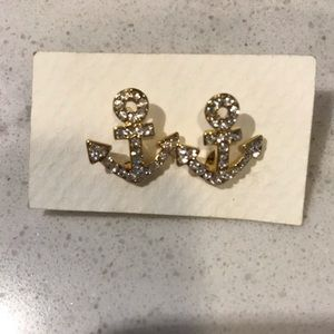 Gorgeous Anchor / Sailor Crystal Earrings